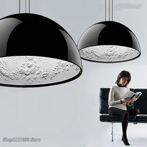 Image 1 - Lampe suspendue en résine, design pendentif Led, design nordique moderne, luminaire décoratif dintérieur, idéal pour un jardin, une salle à manger, un salon ou une chambre à coucher, pendentif Led