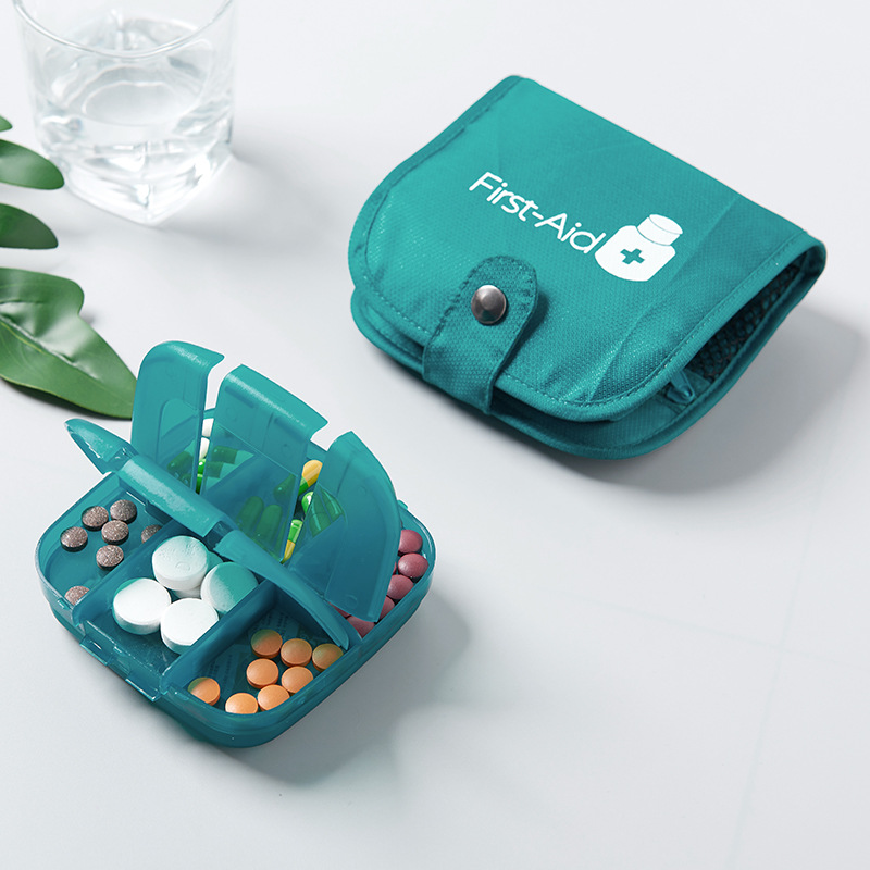 Portable Travel Medicine Box Large-capacity Double-layer Drug Case Business Trip Convenient Organizer Pouch Accessories Supplies
