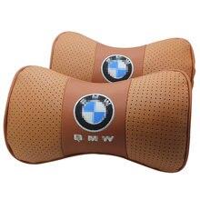 Черная Автомобильная подушка bmw 2 шт для шеи из натуральной