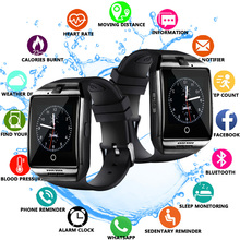 Bluetooth  Q18 Smart Watch Men with Touch Screen Big Battery Support TF Sim Card Camera for Android Phone Smartwatch цена и фото