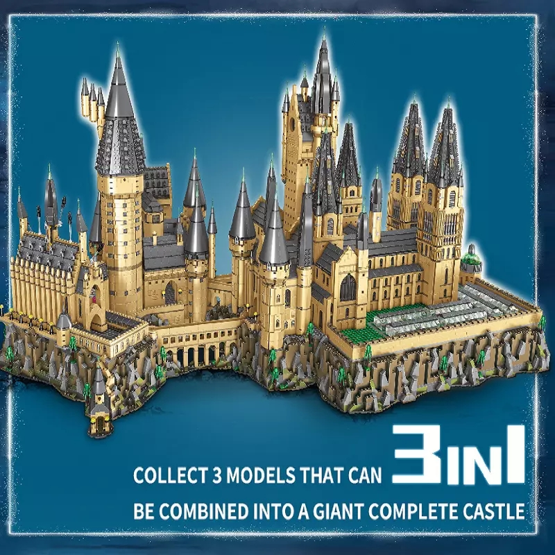 In Stock Magic Movie Castle Model 16060 Compatible 7315 7316 7317 Assembly Toys Building Blocks Bricks Kids Birthday Gifts