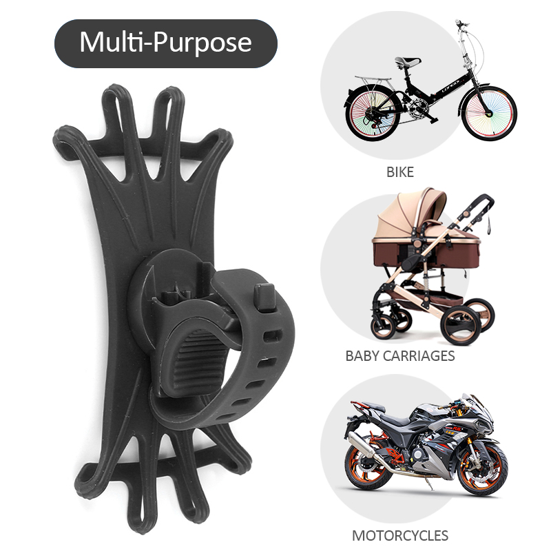 Silicone Bicycle <font><b>Phone</b></font> <font><b>Holder</b></font> For <font><b>IPhone</b></font> 11 Pro Max 6 7 <font><b>8</b></font> <font><b>Plus</b></font> X Xr Xs For Mobile <font><b>Phone</b></font> Mount Band <font><b>Bike</b></font> GPS Clip Universal image