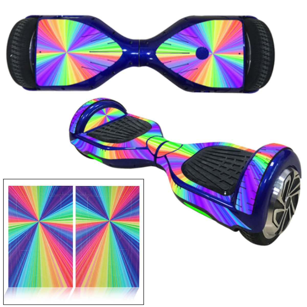 1pc 6.5 Inch Self-balancing Electric Scooter Wheel Board Protective PVC Cover Skin Sticker Classic Hoverboards Decoration Decal