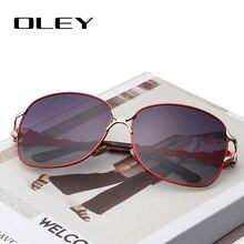 OLEY nowa moda duża ramka kobiety spolaryzowane okulary przeciwsłoneczne damskie kobieta w stylu Vintage odcienie Oculos de sol Feminino Y7203
