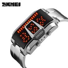 SKMEI montres bracelet numérique pour homme, créative de Sport, 5Bar imperméable, de marque montre pour hommes, horloge électronique 1179