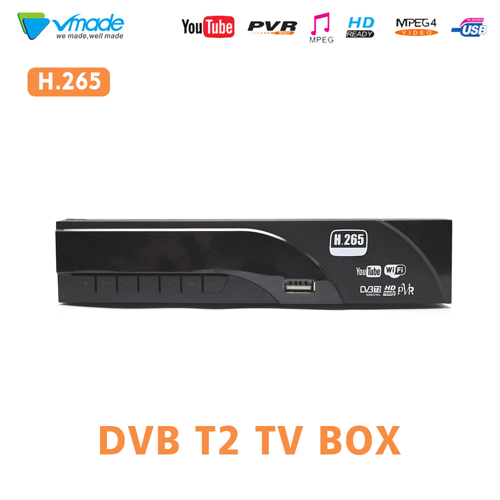 DVB T2/T H.265 Decoder HD Digital Terrestrrial tv  receiver support Dolby AC3 Youtube USB 2.0 MPEG 4 HEVC TV dvbt Tuner receiver-in Satellite TV Receiver from Consumer Electronics