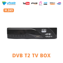 DVB T2/T H.265 Decoder HD Digitale Terrestrrial ricevitore tv supporto Dolby AC3 Youtube USB 2.0 MPEG 4 HEVC TV ricevente del Sintonizzatore dvbt