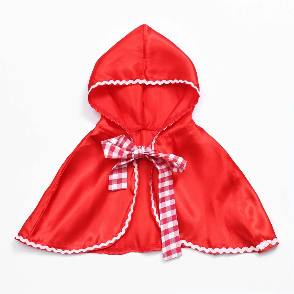 Little Red Riding Hood Costume Cape Dress Up Halloween Capelet Cosplay Princess Cloak For Women And Girls