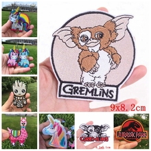 Prajna GIZMO Gremlin Unicorn Patch Embroidery Badge Patches For Kids T-Shirt Stripes On Clothes Jurassic Park Iron F