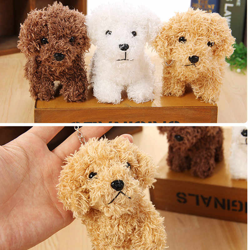 10CM Cute Puppy Teddy Dog Plush Toys PP cotton Soft Stuffed Animal Simulation Doll Toy key chain kids wedding gift