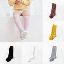 1-5years kids Girls Stockings Baby Non-Slip Knee High Lace Thin Pantyhose Solid Princess Long Dance Tights