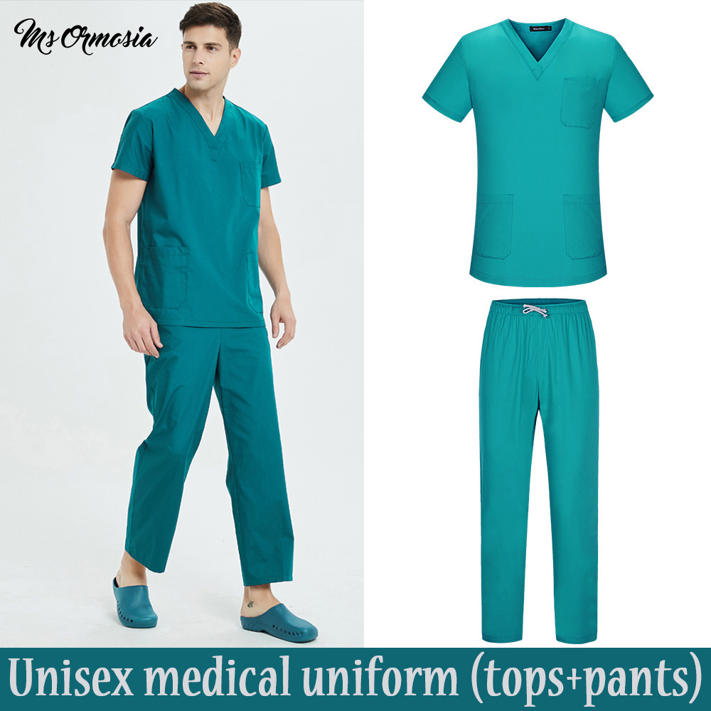 Cotton Medical Clothing Women Surgical Tops Fashion Solid Scrubs Work Wear & Uniforms Hospital Medical Uniforms Nurse Uniform
