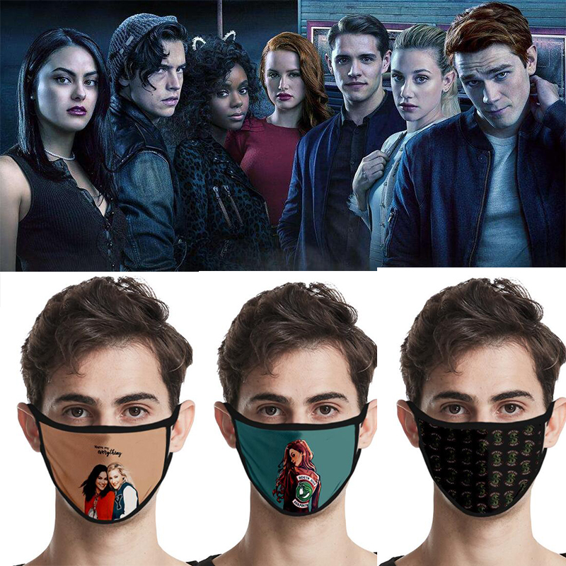 Movie Riverdale Mask Cosplay Masks Reusable Mascarillas Washable Serpent Society Mask Cotton Dustproof Party Props