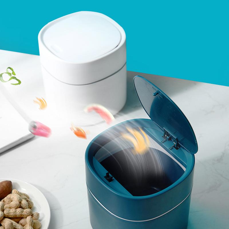 Mini Desktop Multifunctional Trash Can Home Car Storage Bucket Accessories With Lid Garbage Bin Nordic Style Living Room Office
