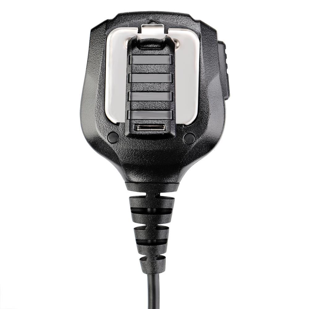 New Black Retevis 2 Pin Speaker Mic for Motorola GP68/GP88/GP300/ GP2000/CT150 Two Way Radio