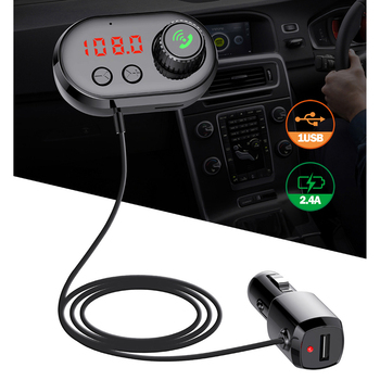 BT V5.0 Car FM Transmitter Kit Wireless BT Audio Adapter Vehicle Aroma Diffuser Support Hands-free Calls image