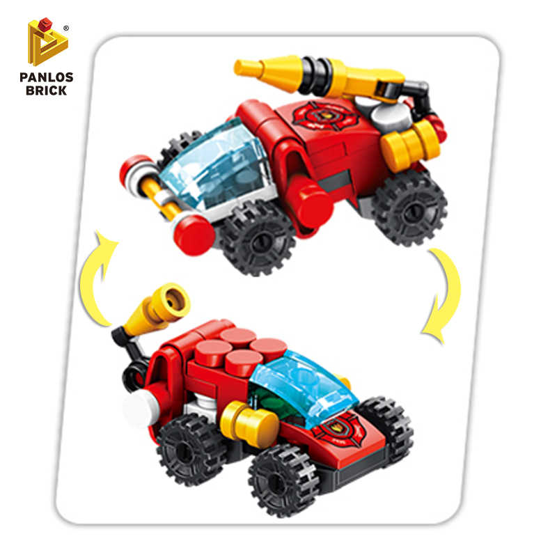 Building Blocks Firefighting Boat SWAT Police Plane Robot Dog Car City Engineering Truck Mini Plastic Gift Fun Toy For Kid Boy