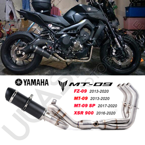 MT09 FZ09 XSR900 Motorcycle carbon fiber Exhaust muffler contact pipe Full System For yamaha FZ-09 MT-09 MT 09 2013-2020 Exhaust