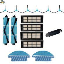 Paño de mopa, cepillo de rodillo principal, cepillos laterales, filtros HEPA para Cecotec conga 3090, repuestos de filtro, accesorios de aspiradora