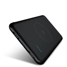 Slim Poverbank 10000mAh Qi Wireless Charger Power Bank Exter