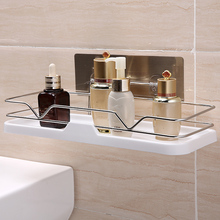 Shower Wall Shelf Punch Free Shower Shelf Black Wh