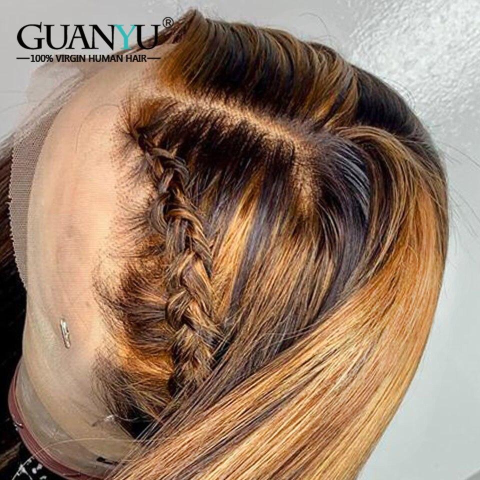 destaque do laco frontal peruca de cabelo 04