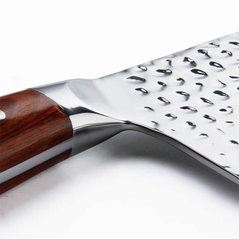 KEEMAKE 7 ''Coltello Mannaia Tedesco 1.4116 Martello di Acciaio Lama Chef Coltelli Da Cucina Manico In Legno di Colore Sharp Affettatrice di Carne Cutter strumento