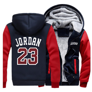 Image 3 - ฤดูใบไม้ร่วงฤดูหนาวผู้ชายหนาขนาดใหญ่Hoodiesเสื้อกันหนาวชายเสื้ออบอุ่นเสื้อลำลองStreetwear Jordan 23พิมพ์Hoody
