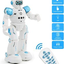 RC Robot for Kids,Intelligent Programmable Infrared Remote Control and Gesture Sensing Robots with Music Lights, Walking,Singing
