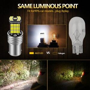 AILEO 2 шт. 1156 BA15S P21W S25 7506 светодиодный лампы высокой Мощность 45 шт 4014SMD супер яркий 1200LM заменить заднего вида для автомобилей светильник белого цвета|Сигнальная лампа|   | АлиЭкспресс