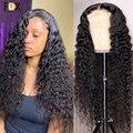 30 32 дюймов глубокая волна Синтетические волосы на кружеве человеческих волос парики 13x4 13x6 HD Синтетические волосы на кружеве al парик 250% браз...