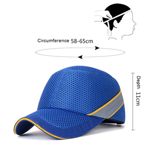 Image 2 - Newest Work Safety Protective Helmet Bump Cap Hard Inner Shell Baseball Hat Style For Work Factory Shop Carrying Head Protection