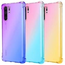 На Алиэкспресс купить чехол для смартфона rainbow transparent gradient soft tpu phone case for huawei p20 p30 mate 20x pro lite nova 3e 4e y7 y6 pro prime 2019 y9 y8 2018