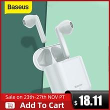 Baseus W09 auriculares TWS, inalámbricos por Bluetooth, auriculares inteligentes de Control táctil con sonido estéreo de graves y conexión inteligente
