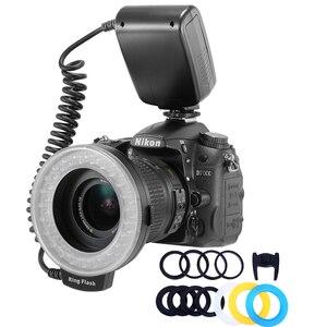 HD-130 макро-кольцевой светильник s светодиодный макро-кольцевой светильник для камеры Canon Nikon Canon Pentax Olympus Panasonic