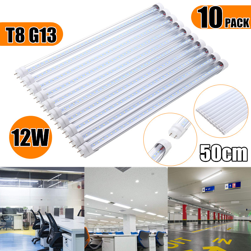 10PCS 50cm LED Tubes T8 G13 8W SMD2835 Fluorescent Bulbs 36 LED Tube Light for Indoor Home Decor AC85-265V