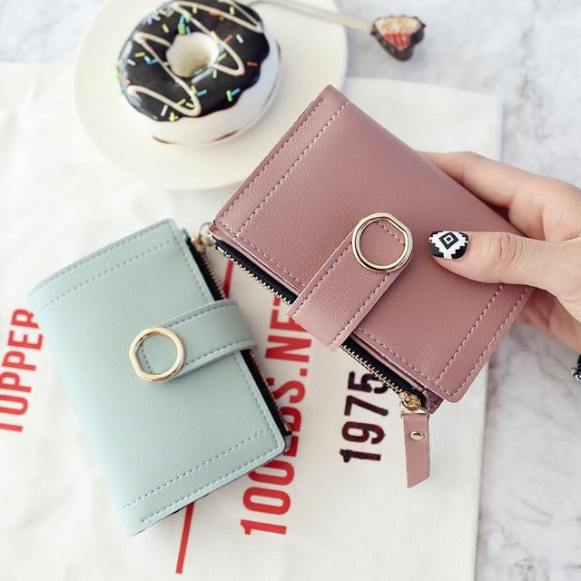 Women Wallets Small Fashion Brand Leather Purse Women Ladies Card Bag For Women 2020 Clutch Women Female Purse Money Clip Wallet 2