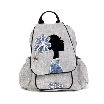 Fashion national String appliques women shopping backpacks!Nice beauty appliques lady Cover backrack All-match canvas backruck фото