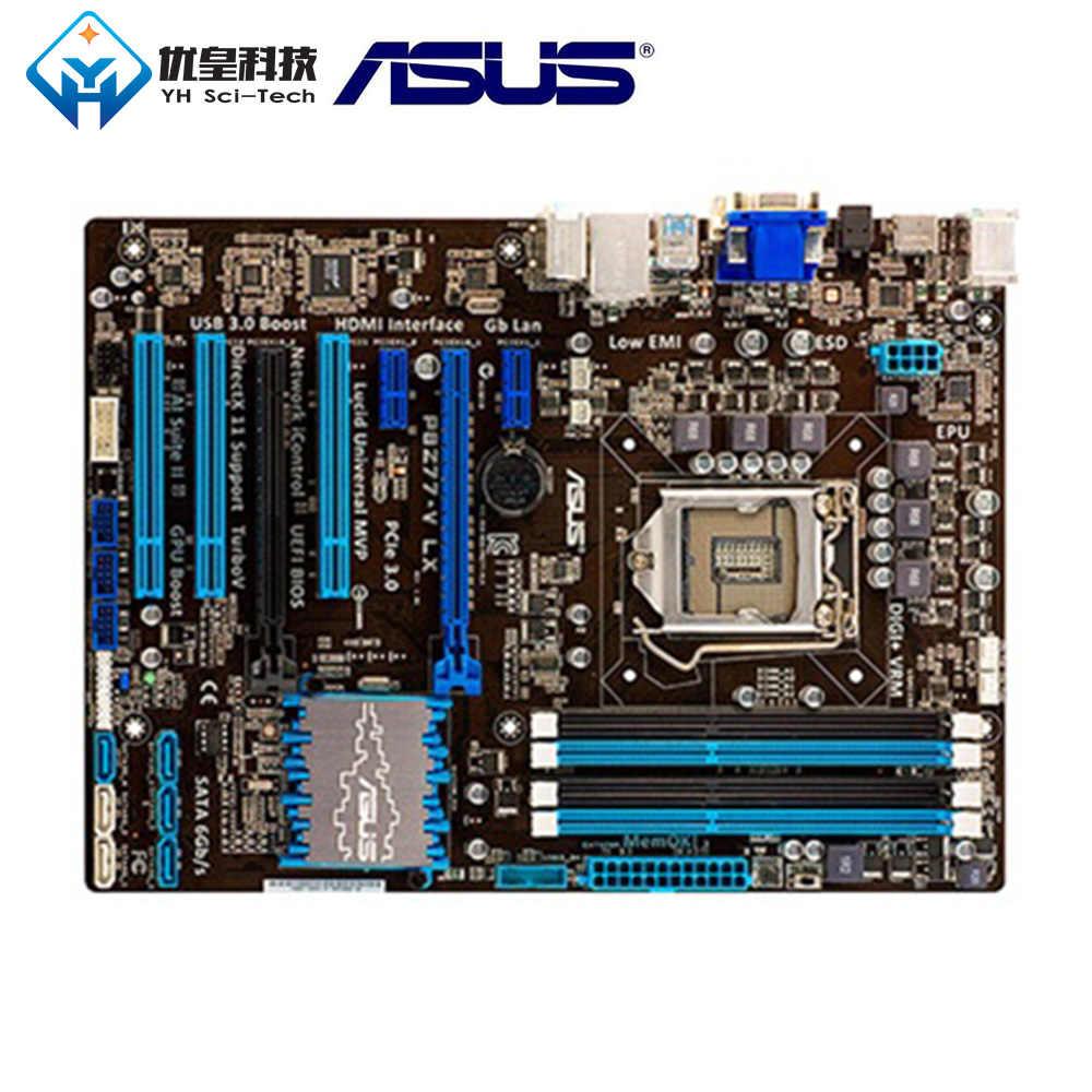Asus P8Z77-V LX إنتل Z77 الأصلي المستخدمة سطح المكتب اللوحة المقبس LGA 1155 كور i7/i5/i3/بنتيوم/سيليرون DDR3 32G ATX