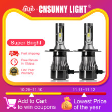 CNSUNNYLIGHT COB H7 LED H4 H11 H8 H1 9005 9006 HB3 HB4 H3 881 Auto Headlight Bulbs 72W 12000Lm 6500K 4300K LED Car Light Styling(China)