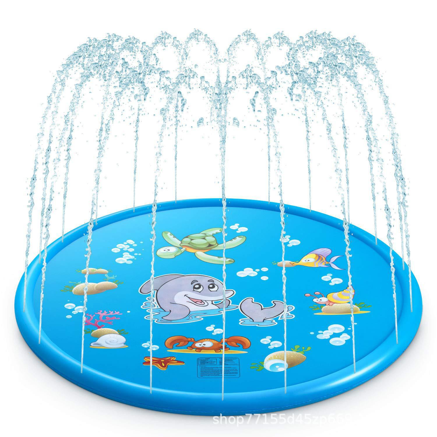 Summer Inflatable Water Spray Pad Thickened Pvc Children Outdoor Splash Pads Swimming Pool Toy Kid Gifts 100 130 150 170 180cm