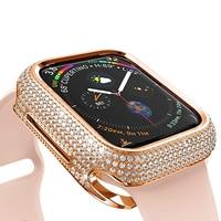 Luxus Strass Diamant Schutzhülle für iWatch Serie 6 5 4 40mm 44mm Frauen Schmuck Fall für Apple uhr 6 SE 3 42mm 38mm