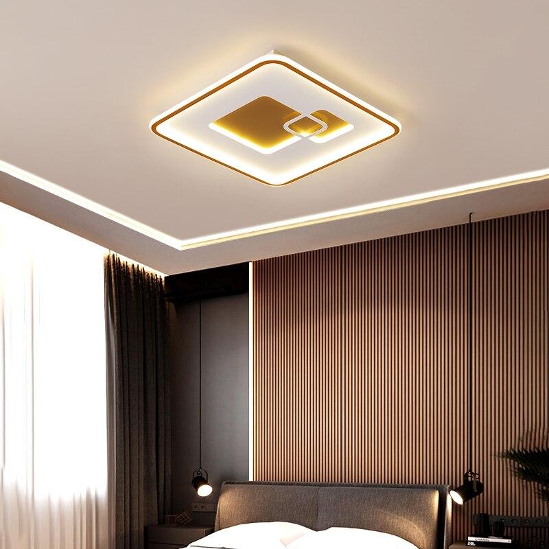 Modern Square Frame LED Chandeliers For Bedroom Dining Room Living Room Kitchen Study Room Minimalist LED Chandeliers 110V 220V