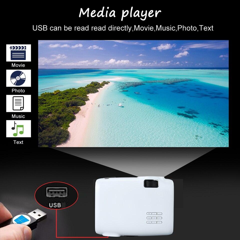 WZATCO E600 Android 9,0 Wifi умный портативный мини светодиодный проектор HDMI Поддержка Full HD 1080p 4K видео домашний кинотеатр проектор