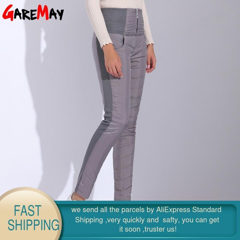 Pantalones de invierno GareMay Mujeres Duck Down Terciopelo Cintura - Ropa de mujer - foto 2