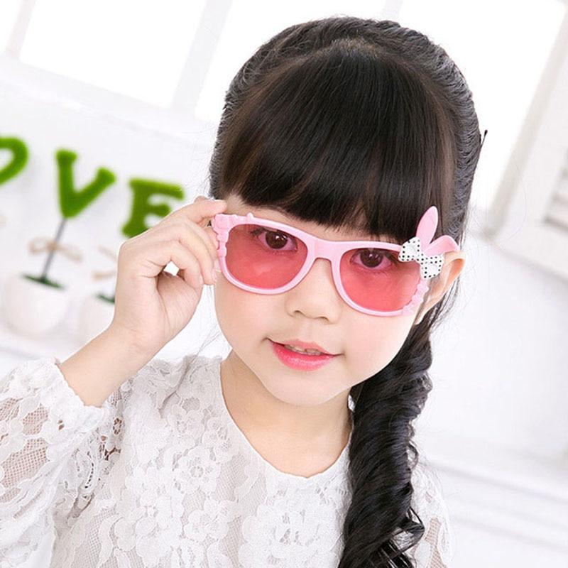 Cute Baby Kids Sunglasses Girls Children Rabbit Ears Eyewear Child Sunglasses Suitable For 2-8 Years Old
