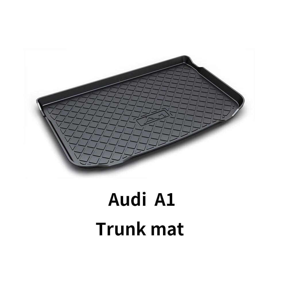 Черный сверхмощный грузовой напольный коврик-всепогодная защита багажника, прочный HD TPO Подходит для Audi A1 14-19