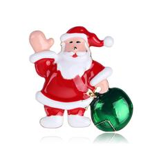 Christmas Brooches for Women Men Fashion Santa Claus Brooch Pin Suit Dress Jewelry Accessories Gift