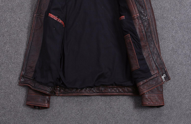 Hf90b3e84308645459bcefbe91a61cc72b AYUNSUE Vintage Genuine Cow Leather Jacket Men Plus Size Cowhide Leather Coat Slim Short Jacket Veste Cuir Homme L-Z-14 YY1366