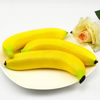 5 sztuk 20cm długa sztuczna owoce plastikowe sztuczne owoce sztuczne banana i sztuczne tworzywo sztuczne fałszywy symulowane banana tanie i dobre opinie